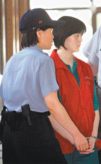 连杀仨亲人被判死刑 为台23年来首位女死囚
