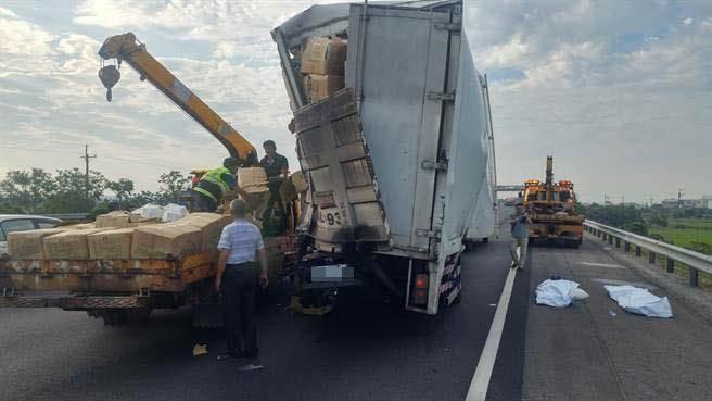 台高速交警拦下违规车开单惨被追撞酿3死
