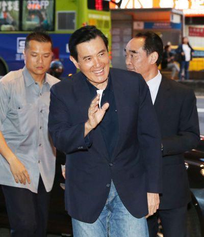 国民党主席吴敦义昨邀请包含马英九(图中)等历任党主席餐叙。图片来源:台湾《联合报》