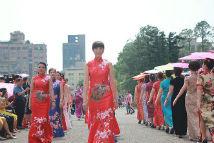 在台陆配团体举办旗袍秀庆祝母亲节