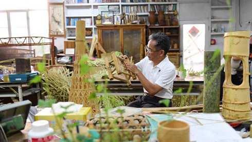 台湾南投的特色竹工艺
