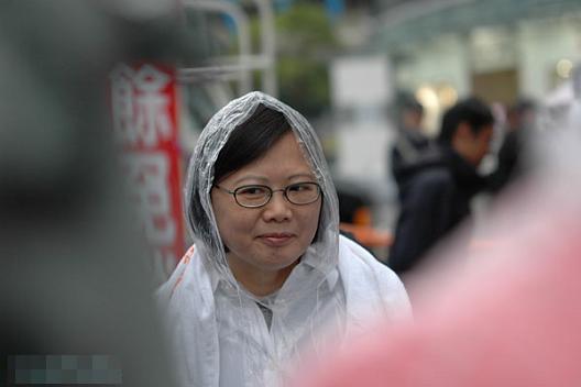 组图:抓拍民进党主席蔡英文的雷人表情